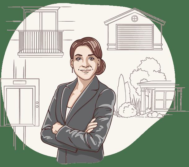 Lisa von der Deutschen Teilkauf zeigt welche Merkmale für den Immobilien-Teilverkauf mit Nießbrauchrecht wichtig sind.
