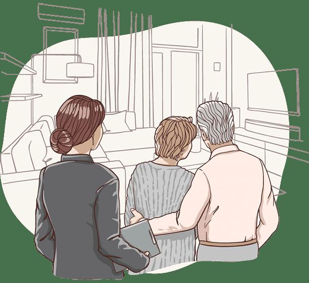 Lisa, die digitale Assistentin der Deutsche Teilkauf berät Senioren beim Immobilien-Teilverkauf mit Nießbrauchrecht