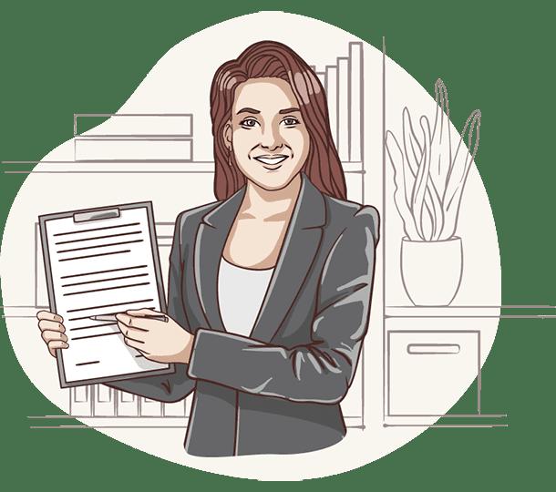 Lisa von der Deutschen Teilkauf nimmt Informationen für den Immobilien-Teilverkauf mit Nießbrauchrecht auf.