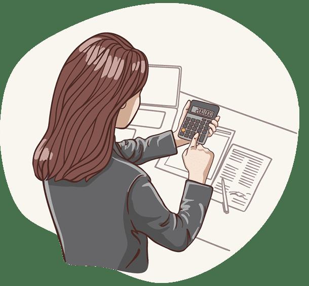 Lisa, die digitale Assistentin der Deutsche Teilkauf berechnet ein faires und transparentes Teilkaufangebot für Ihre Immobilie