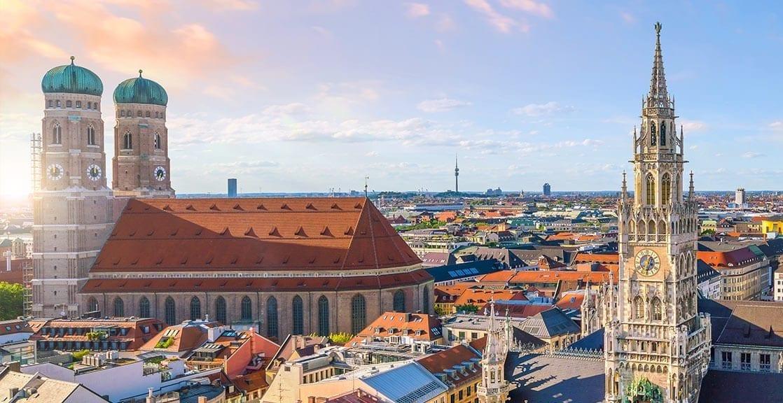 Blick auf die Münchener Frauenkirche