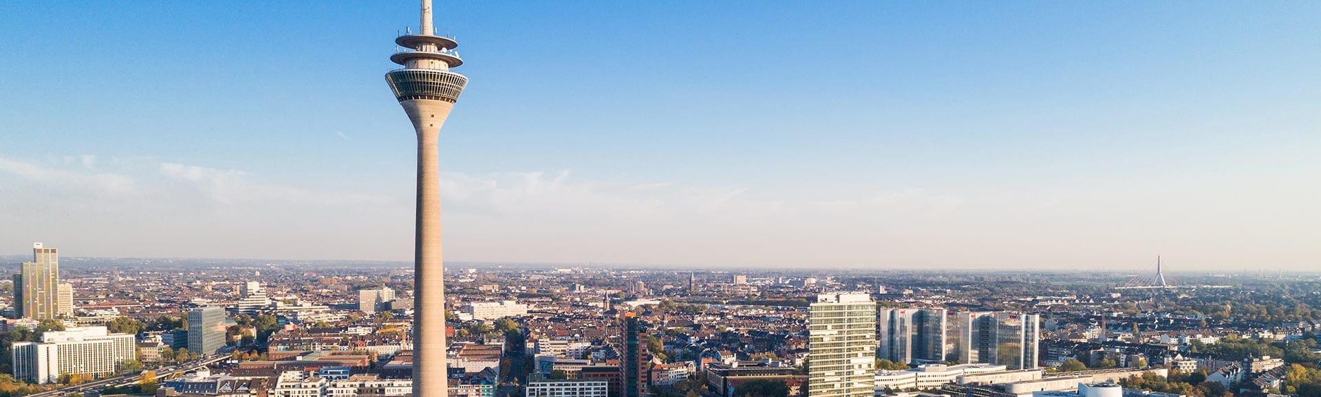 Blick über Düsseldorf