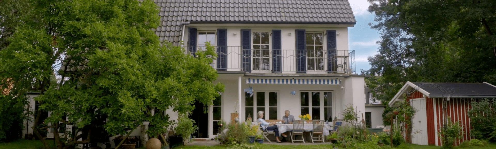 Altersgerecht umgebaute Immobilie dank der Wunschauszahlung beim Teilverkaufsangebot der Deutsche Teilkauf