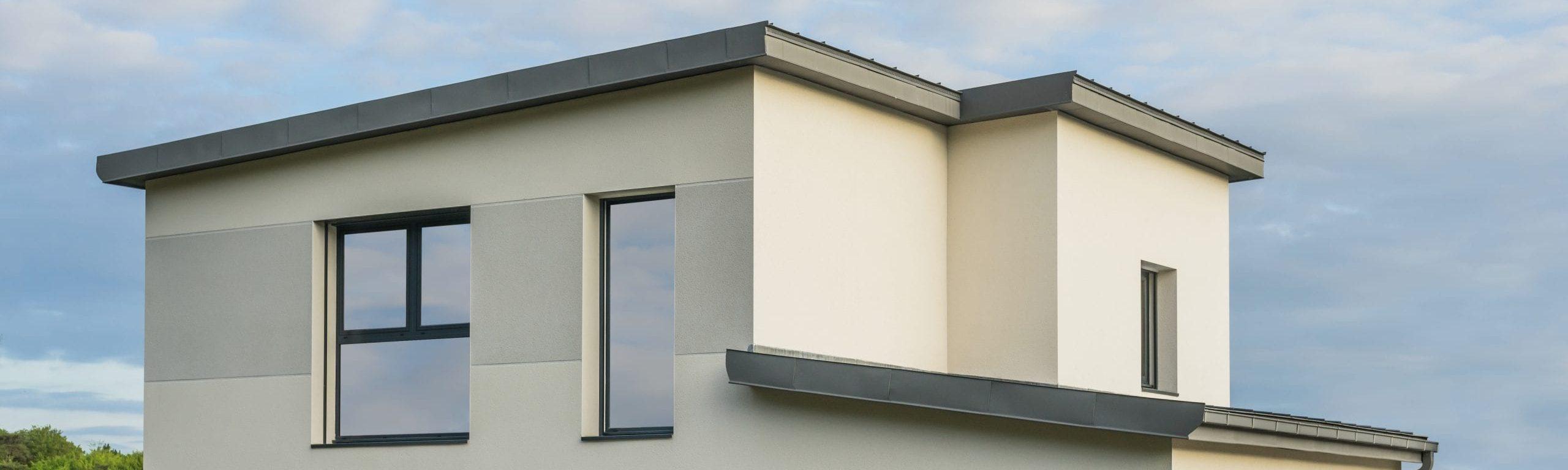 Dachgeschoss eines modernen Hauses
