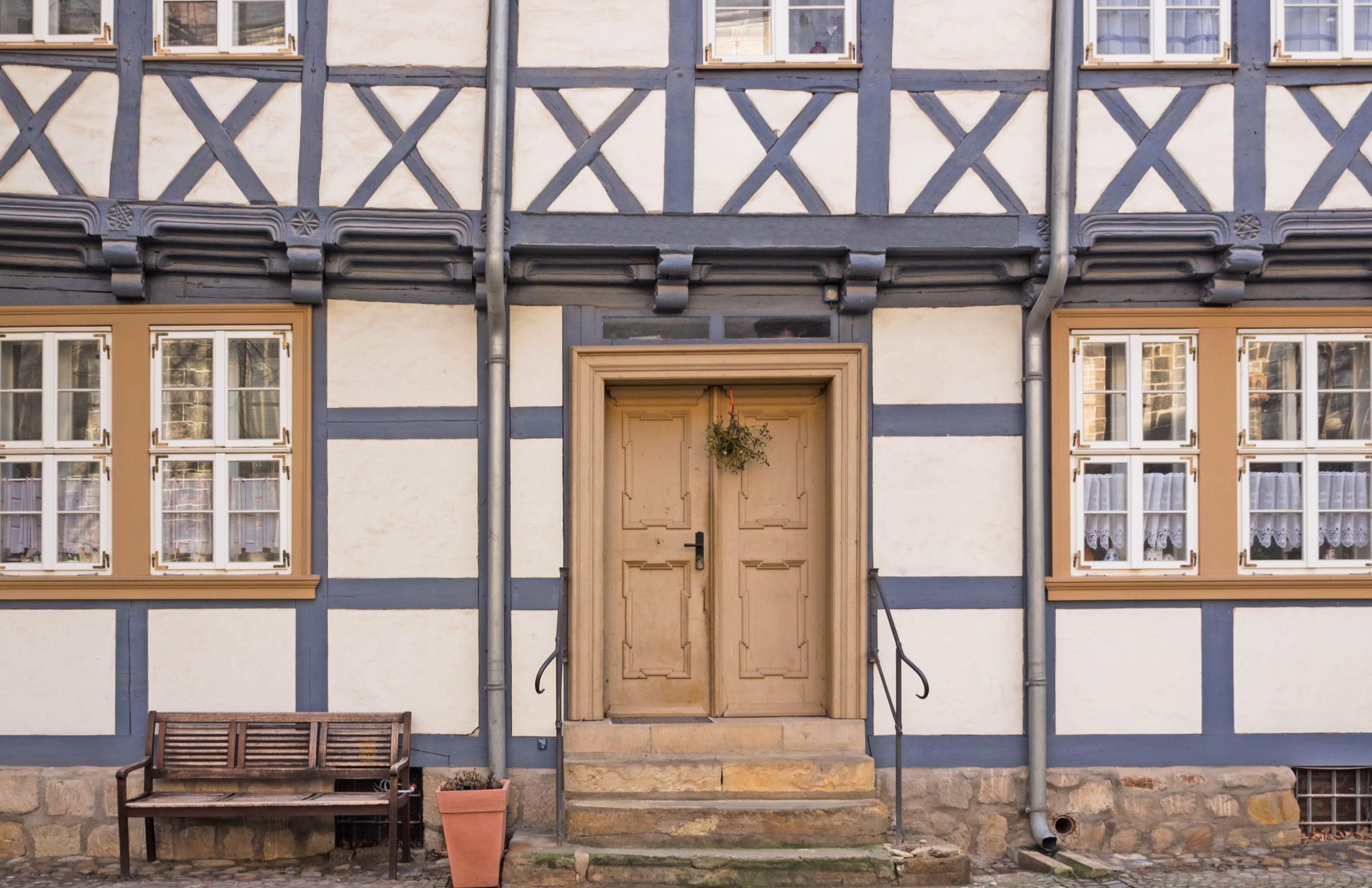 Denkmalgeschütztes Fachwerkhaus Frontansicht