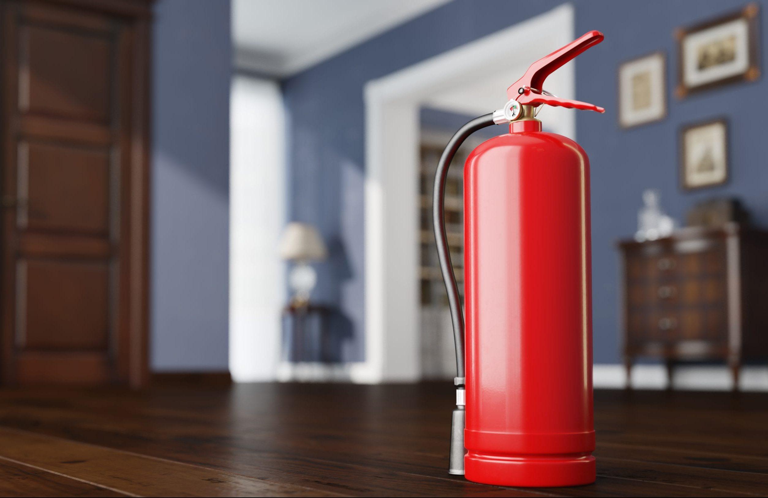 Brandschutz: Ein Feuerlöscher im Eigenheim.