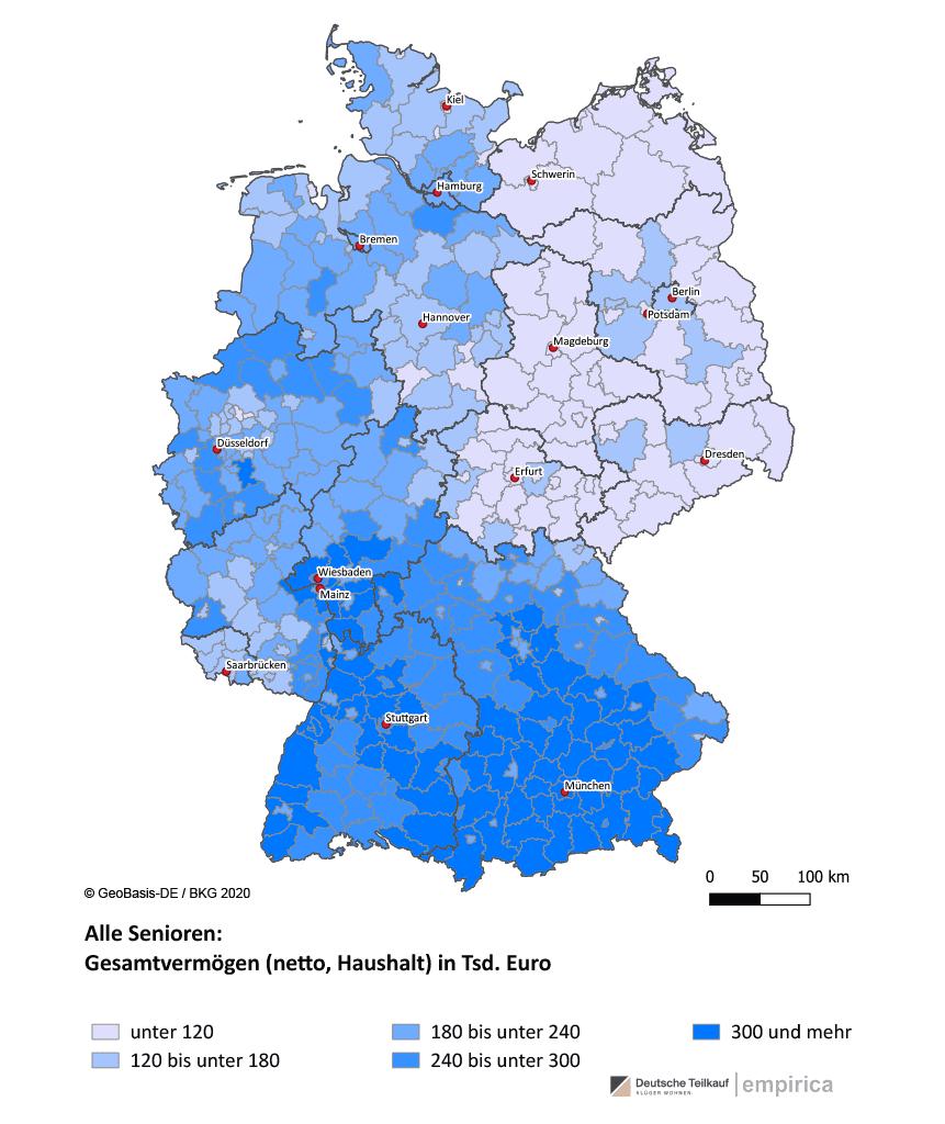 Gesamtvermögen Senioren Deutsche Teilkauf