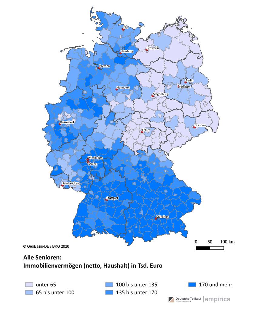 Immobilienvermögen Senioren Deutsche Teilkauf