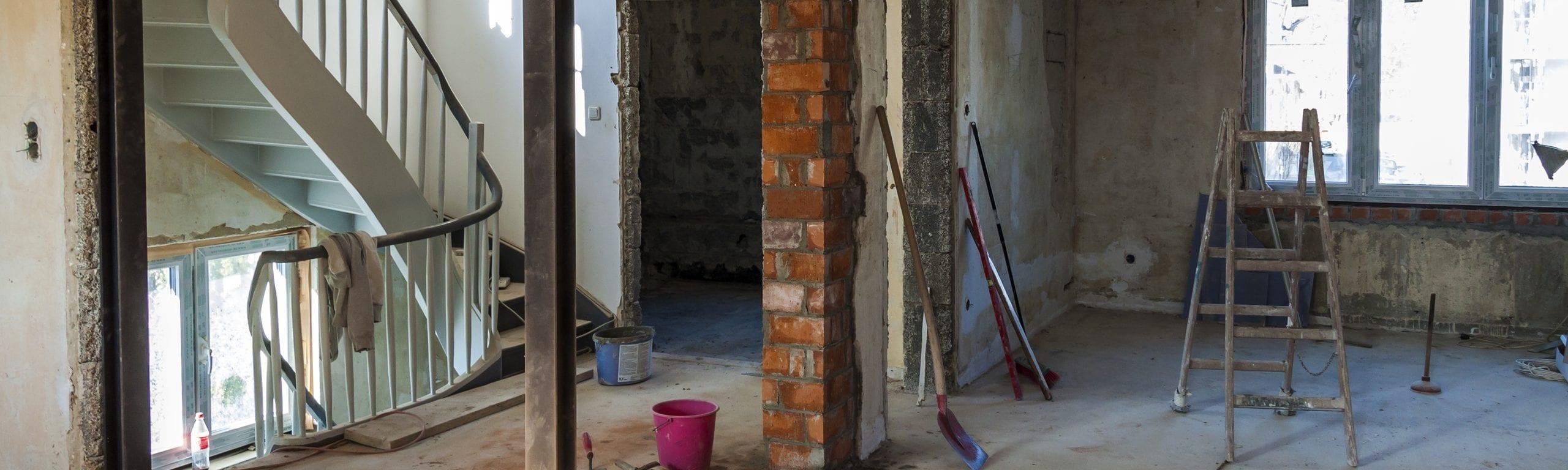 Sanierungsbedürftiges Haus.